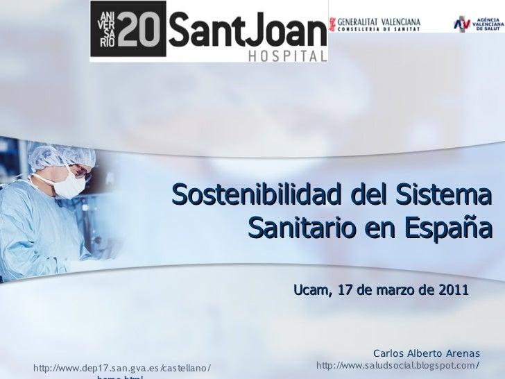 Sostenibilidad del Sistema                                     Sanitario en España                                        ...
