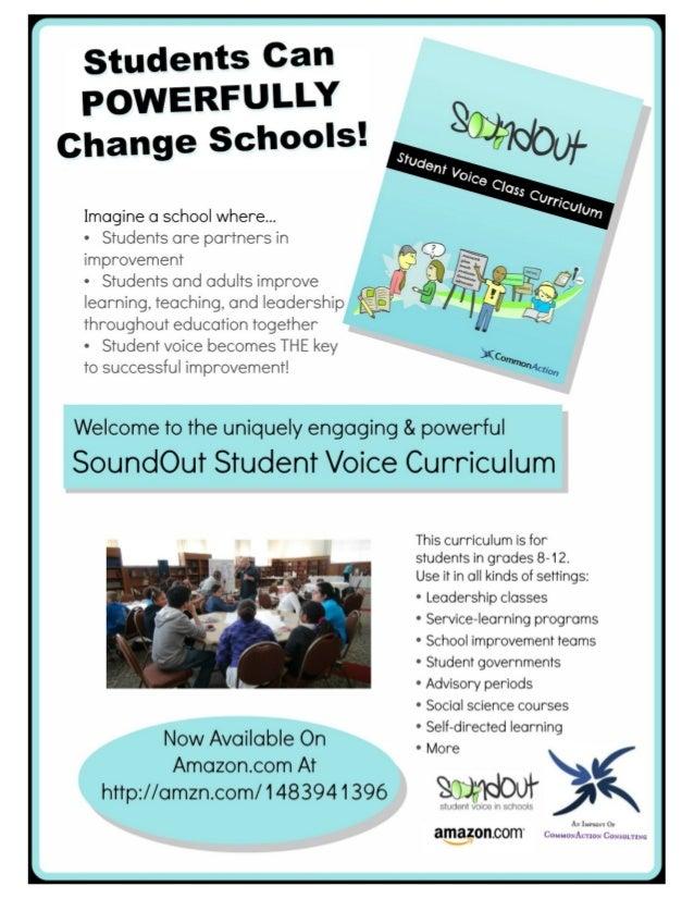 SoundOut Student Voice Curriculum promo flyer