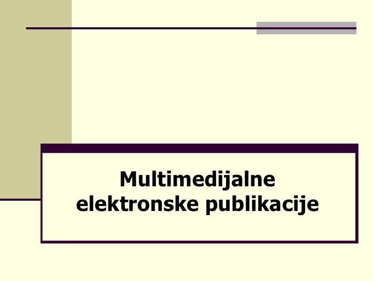 Multimedijalne elektronske publikacije