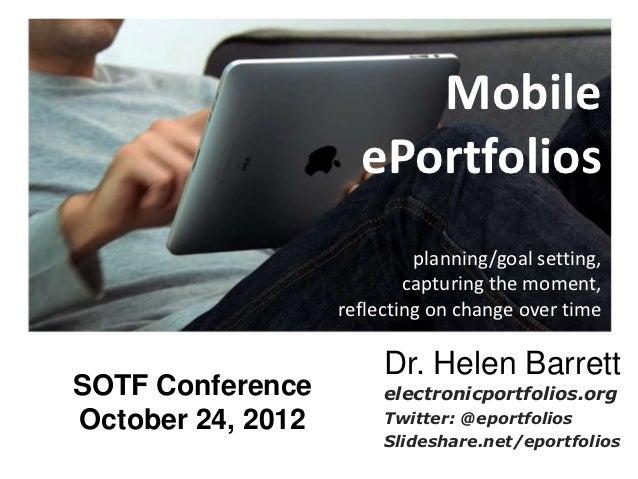 Mobile                     ePortfolios                            planning/goal setting,                           capturi...