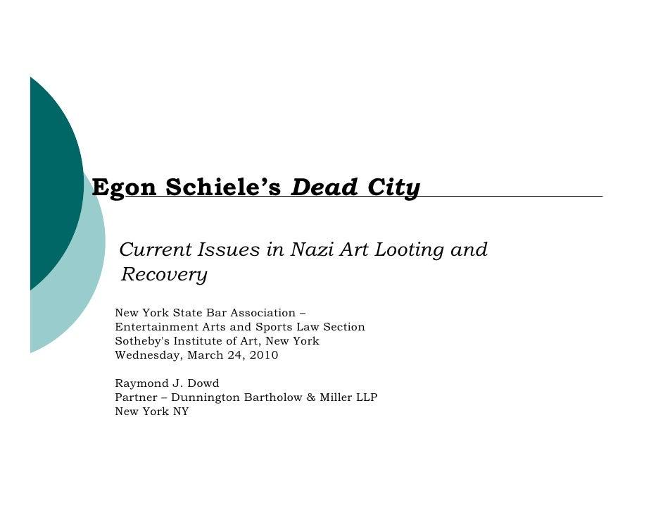 Sothebys Institute Egon Schieles Dead City