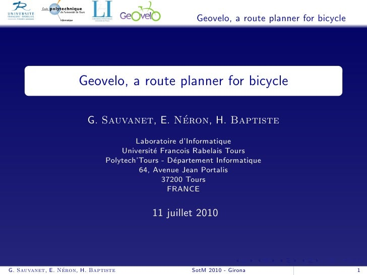 Geovelo, a route planner for bicycle                           Geovelo, a route planner for bicycle                       ...