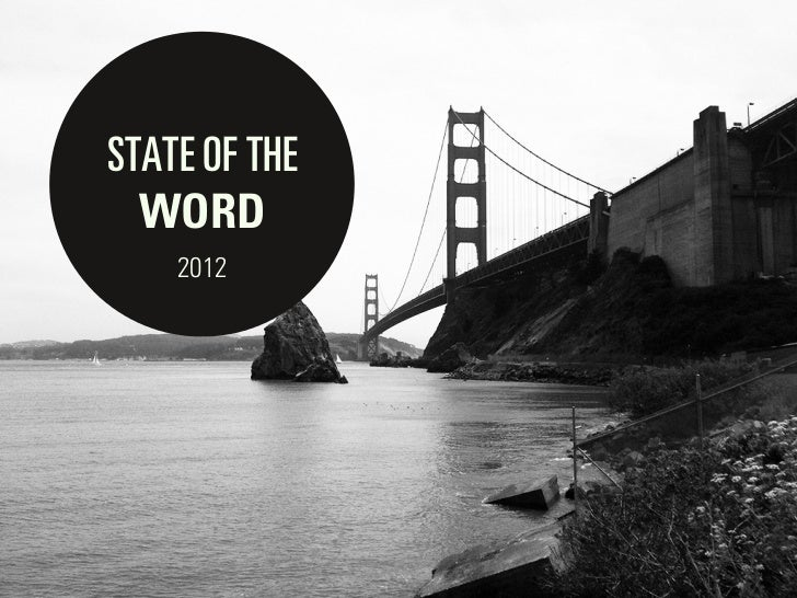 WordPress State of the Word 2012
