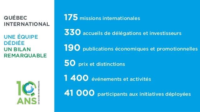 Souhaits et témoignages pour le 10e anniversaire de Québec International