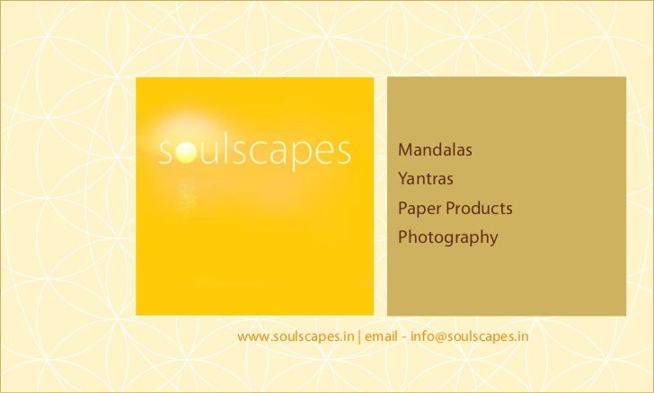 Soulscapes - Mandalas | Yantras | Paper Products
