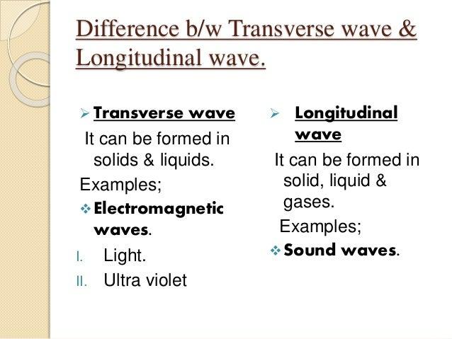 Examples of transverse and longitudinal waves b--b.top 2018