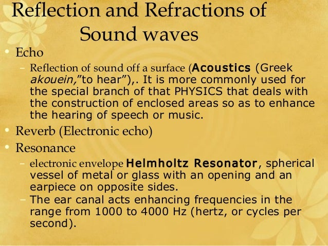 Reflection Waves Animation Uses Reflected Sound Waves