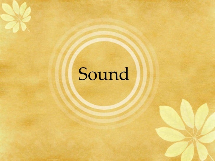 Sound and waves grade 6 pps