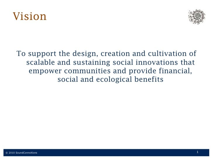 Sound ConneXions supports social innovation