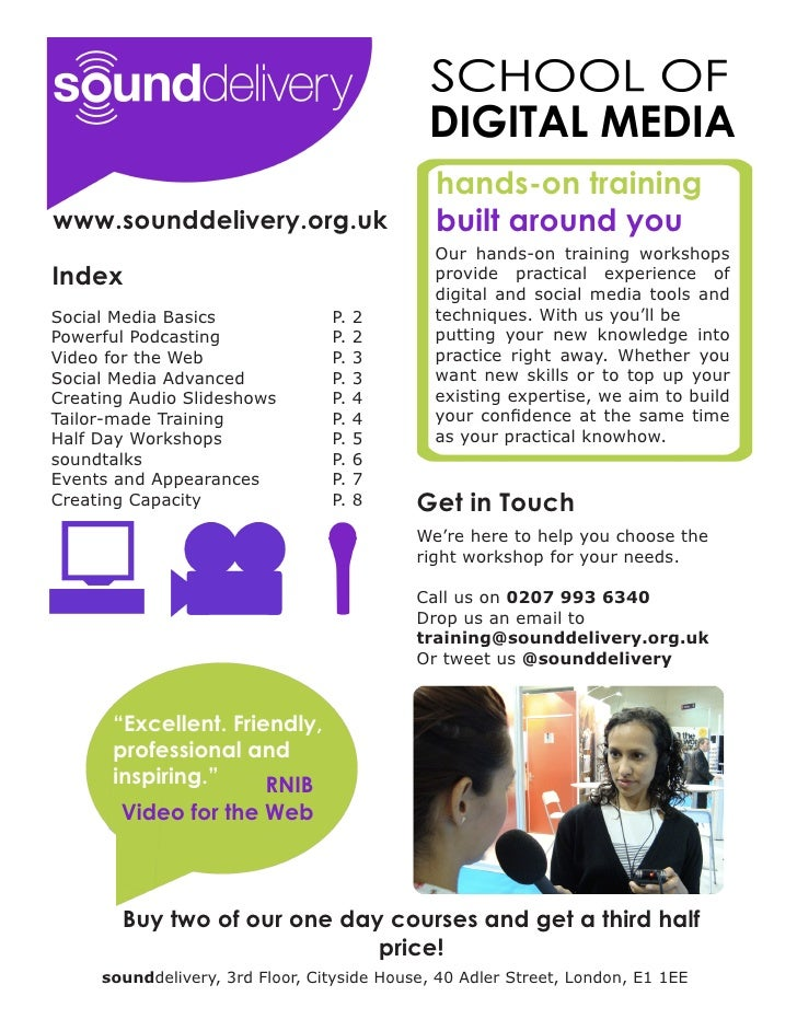 hands-on trainingwww.sounddelivery.org.uk                      built around you                                           ...