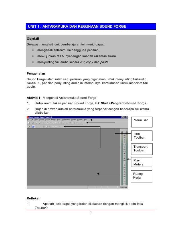 Sound forge dan konsep audio dalam multimedia