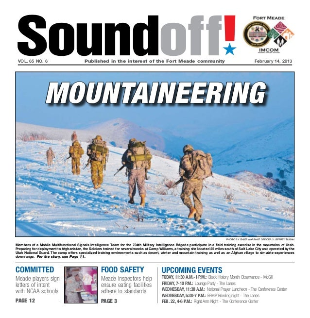 Soundoff! vol. 65 no. 6                           Published in the interest of the Fort Meade community                 ...