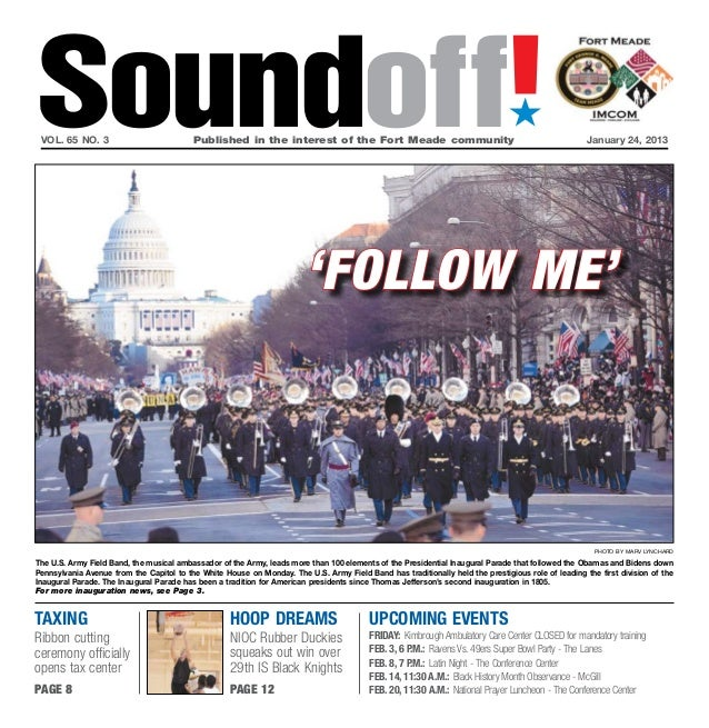 Soundoff! vol. 65 no. 3	                           Published in the interest of the Fort Meade community	                 ...