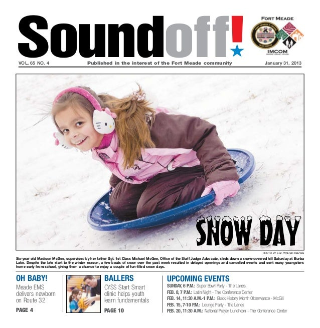 Soundoff! vol. 65 no. 4	                          Published in the interest of the Fort Meade community	                  ...