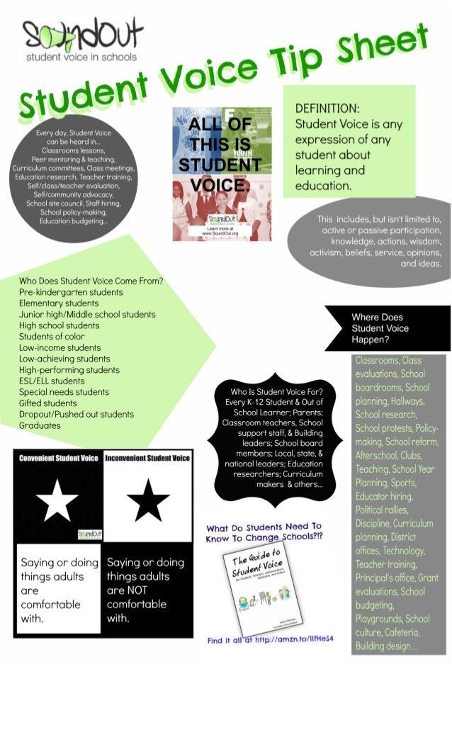 SoundOut Student Voice Tip Sheet