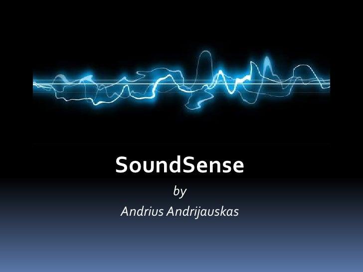 SoundSense<br />by<br />AndriusAndrijauskas<br />