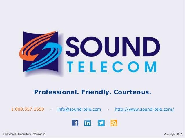 Sound Telecom Presentation