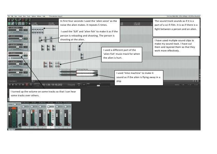 Sound track reaper analysis