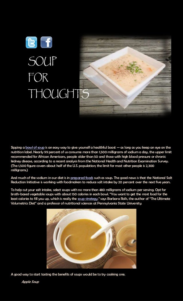 Soup for thoughts