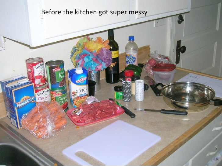 Before the kitchen got super messy