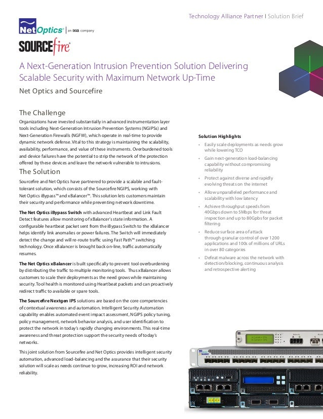 Technology Alliance Partner I Solution Brief  A Next-Generation Intrusion Prevention Solution Delivering Scalable Security...