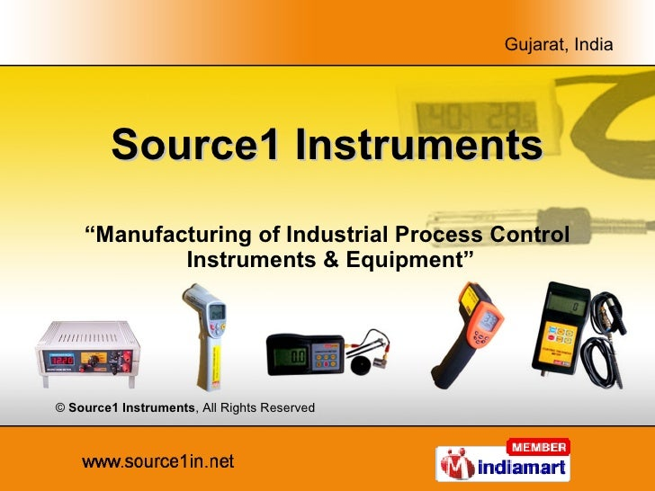 """Source1 Instruments """" Manufacturing of Industrial Process Control  Instruments & Equipment"""" ©  Source1 Instruments , All R..."""