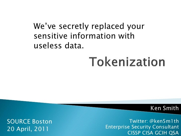 Ken Smith - Tokenization