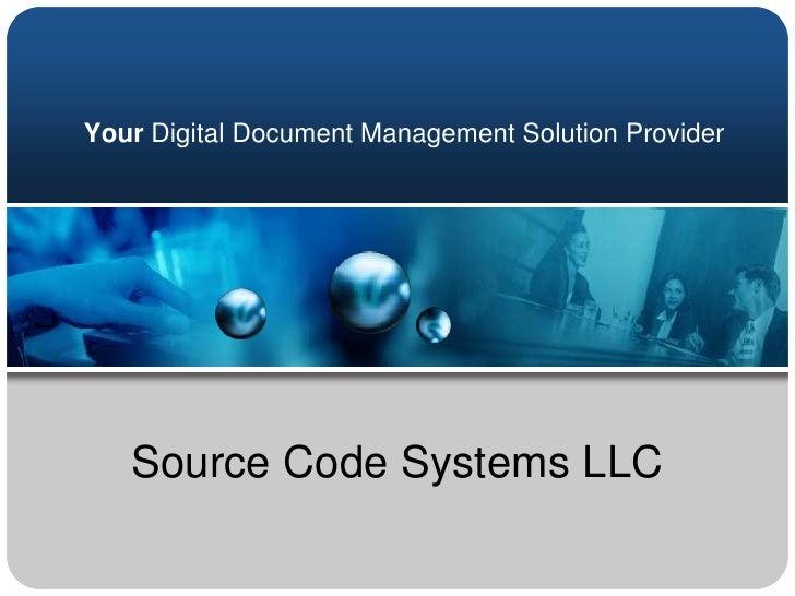 Source Code Presentation