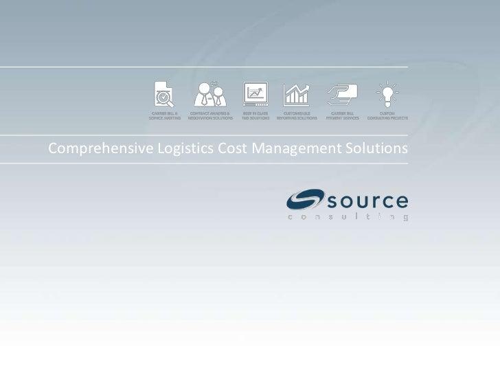 Comprehensive Logistics Cost Management Solutions