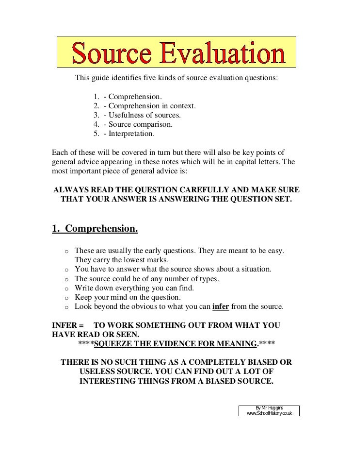 source evaluation essay Evalaluating sources research paper: source evaluation after you find a credible source that can be used for your persuasive essay source evaluation name.