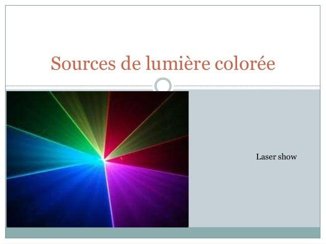 Sources de lumière colorée Laser show
