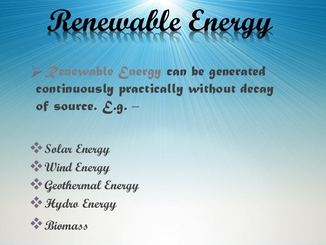Sources Of Energy Class 10