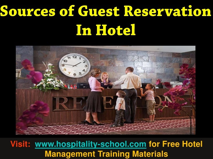 Sources of Hotel Guest Reservation