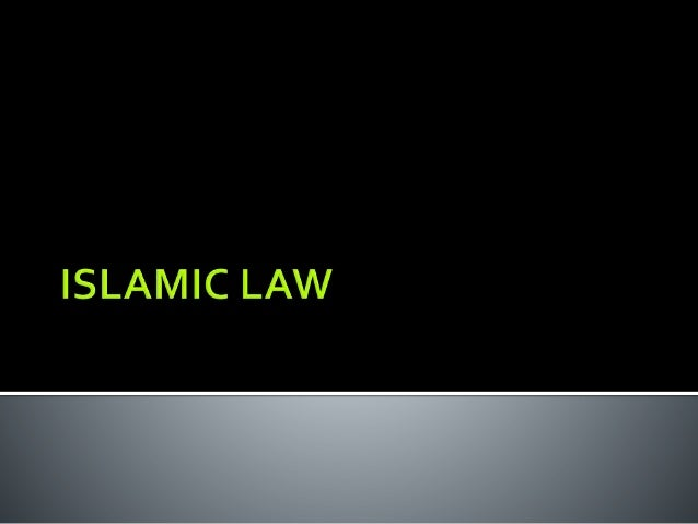 MALAYSIAN LEGAL SYSTEM Sources of law – islamic law