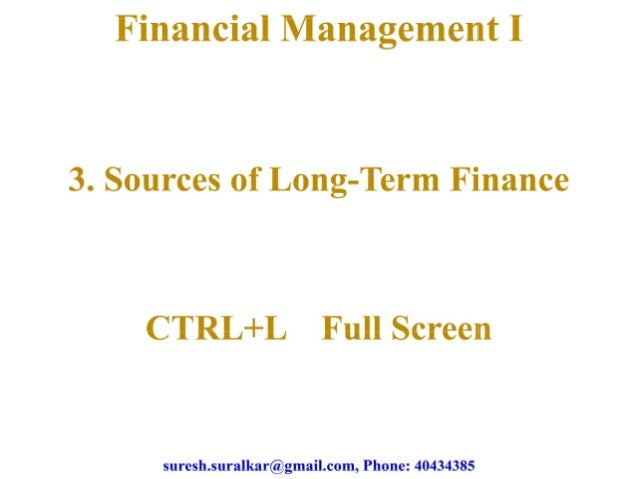 Sources of long term finance theory