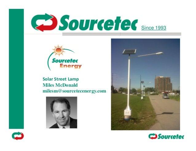 Sourcetec energy street lamp 10 oct 2012