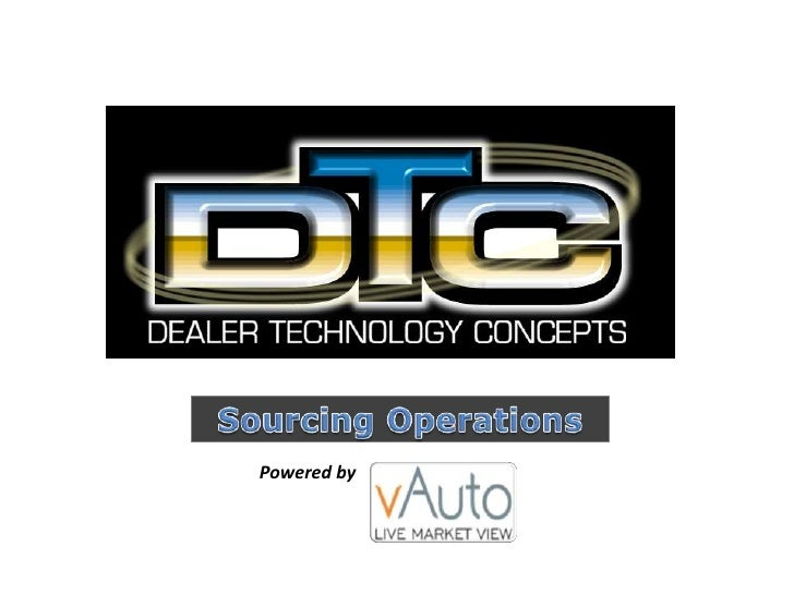 Dealer Technology Concepts provides data-driven used vehicle sourcing services to car dealers nationwide.