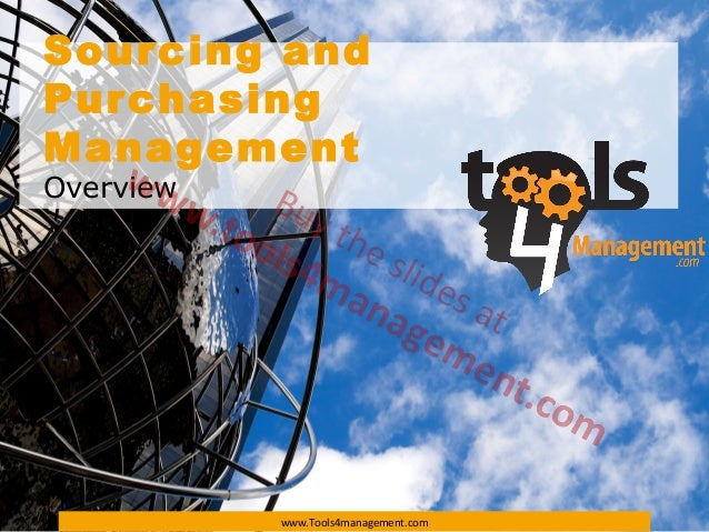 Sourcing and purchasing management overview