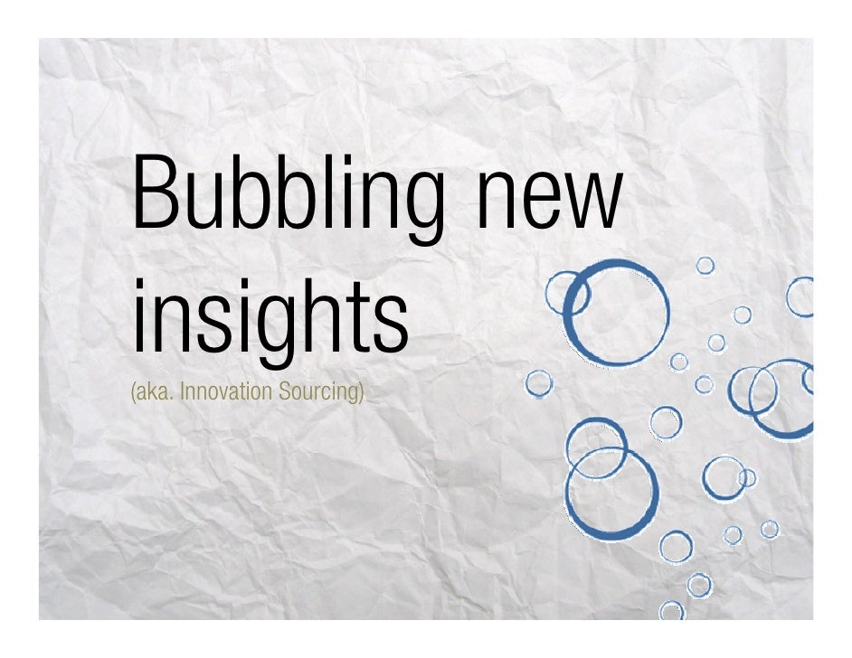 Bubbling new insights