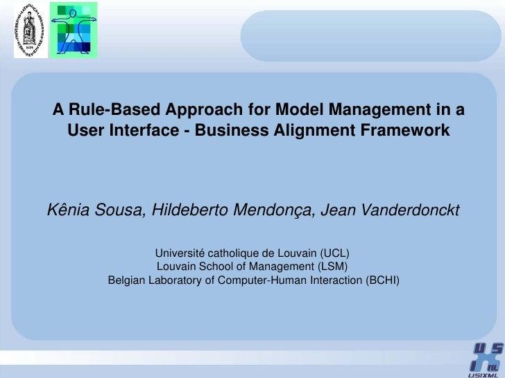 Usi4Biz Framework Presentation at TAMODIA'09