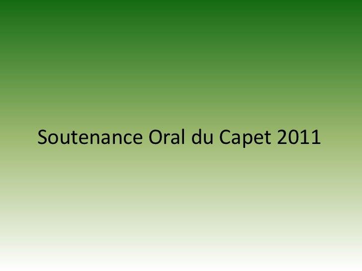 Soutenance Oral du Capet 2011 <br />