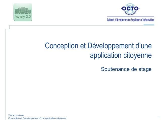 Conception et Développement d'une                                                 application citoyenne                   ...