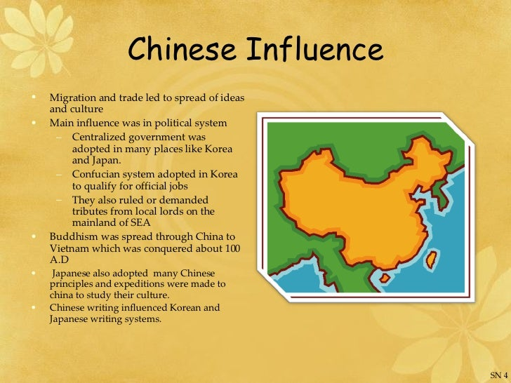 influence chinese culture buddhism Buddhism & buddhism in china buddhism is an indian system of thought that was transmitted to china by central asian its influence on all three cultures was.