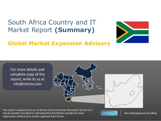 South Africa - Country and IT Market Study (Summary)