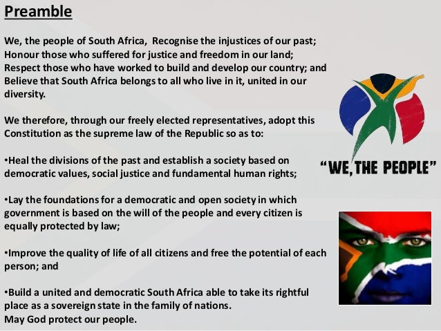 When did South Africa write its constition?