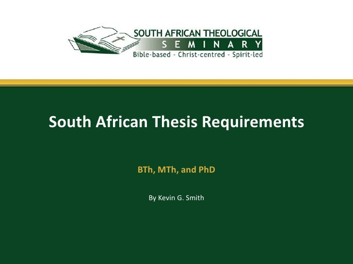 south africa thesis
