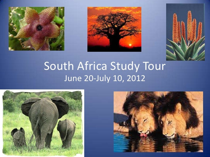 South Africa Study Tour   June 20-July 10, 2012