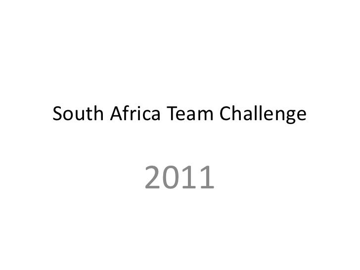 South africa team challenge