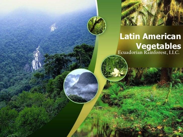 Latin American Vegetables<br />Ecuadorian Rainforest, LLC.<br />