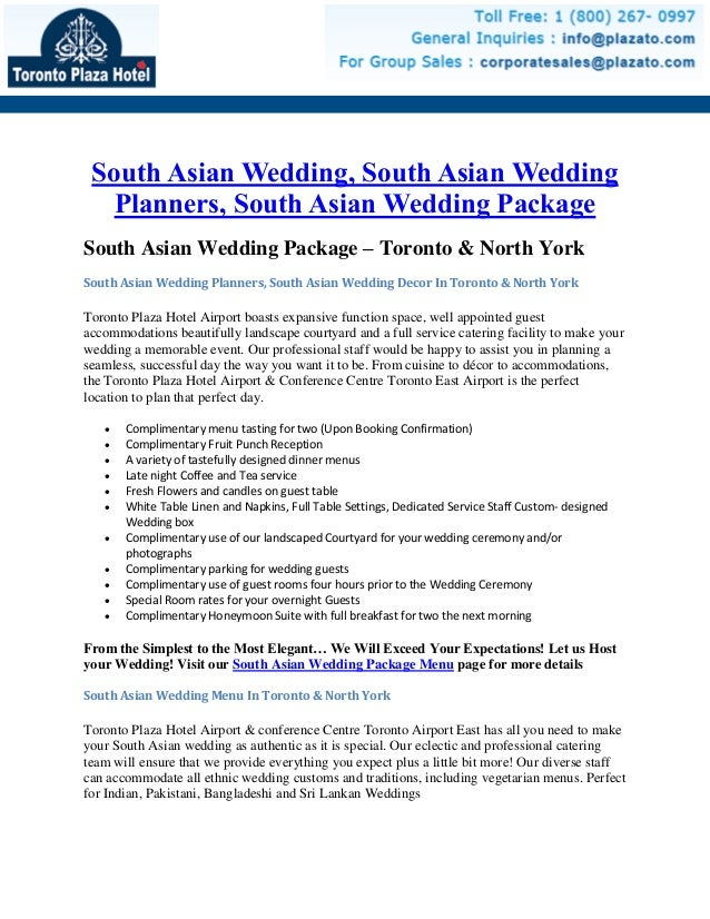 South Asian Wedding, South Asian Wedding Planners, South Asian Wedding Package South Asian Wedding Package – Toronto & Nor...